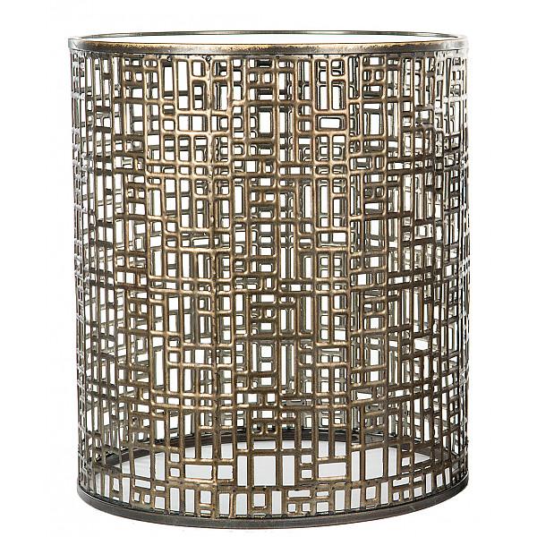 Cylinderbord Spegel Antik Mässing - Stor
