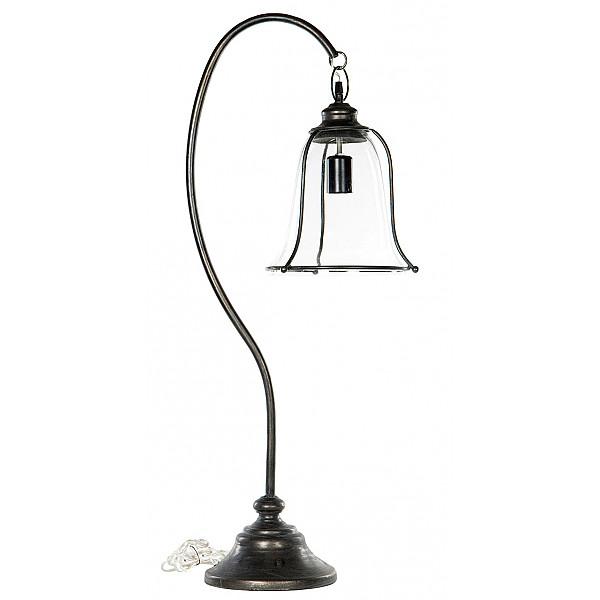 Bordslampa med glasskärm - Svart
