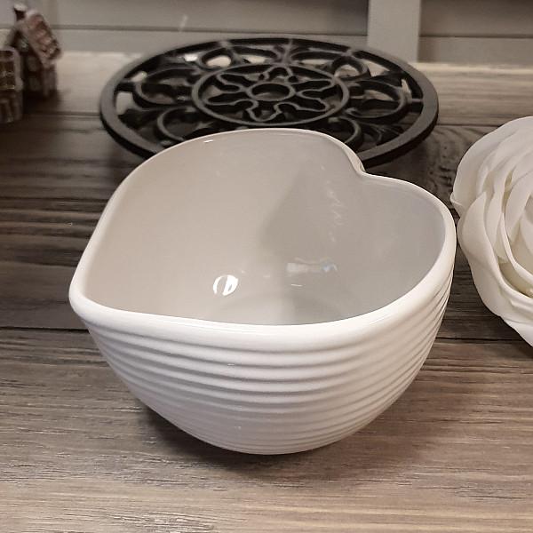 Heart Bowl - White