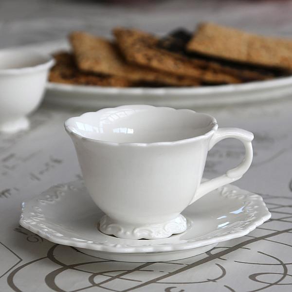 Kaffekopp med fat Provence