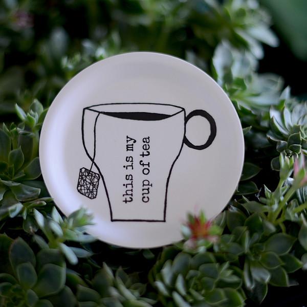 Glasunderlägg/Minibricka Tea