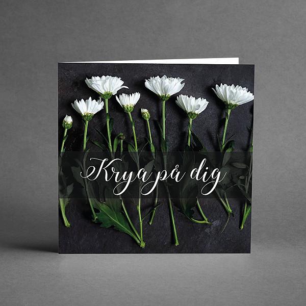 Kort Krya på dig Blommor