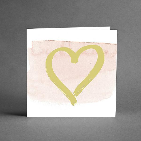 Kort Guldhjärta rosa bakgrund