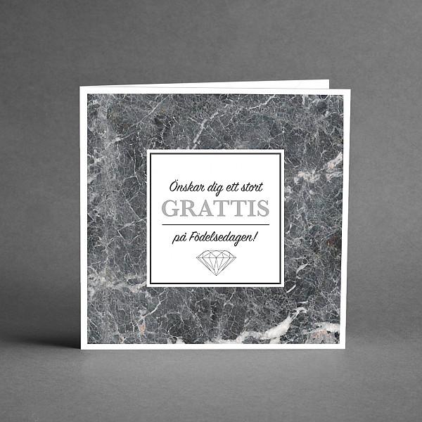 Kort Grattis Silver och marmor