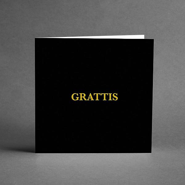 Kort Grattis Svart/Guld