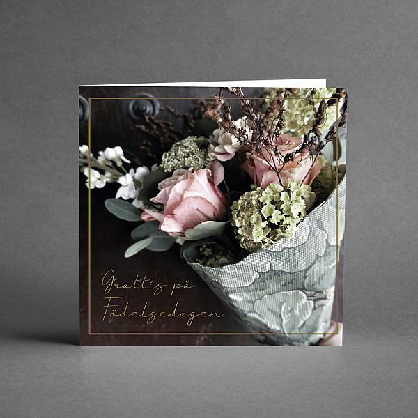 Kort Grattiskort Blomsterbukett