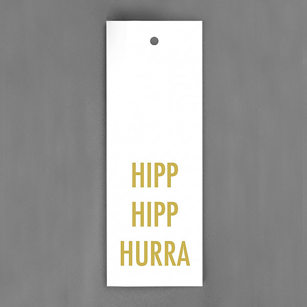 Tag Hipp Hipp Hurra - Guld