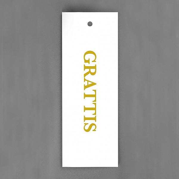 Tag Grattis Vit/Guld