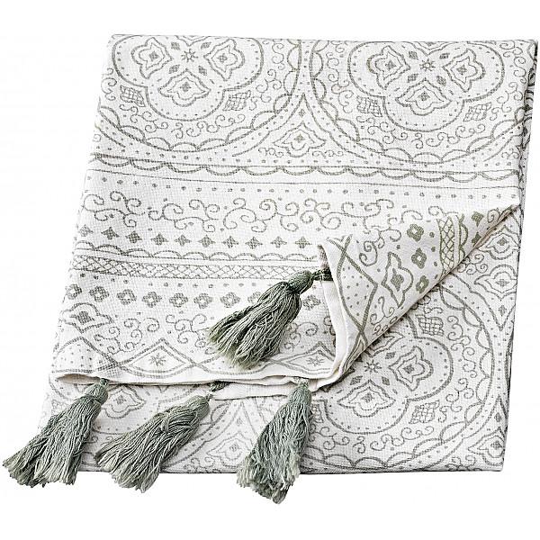 Tea Towel Orient - White / Grey
