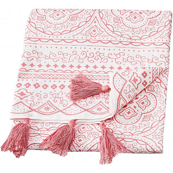 Tea Towel Orient - White / Rosé