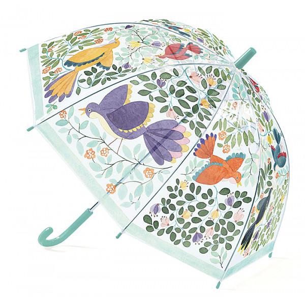 Paraply Blommor & Fåglar