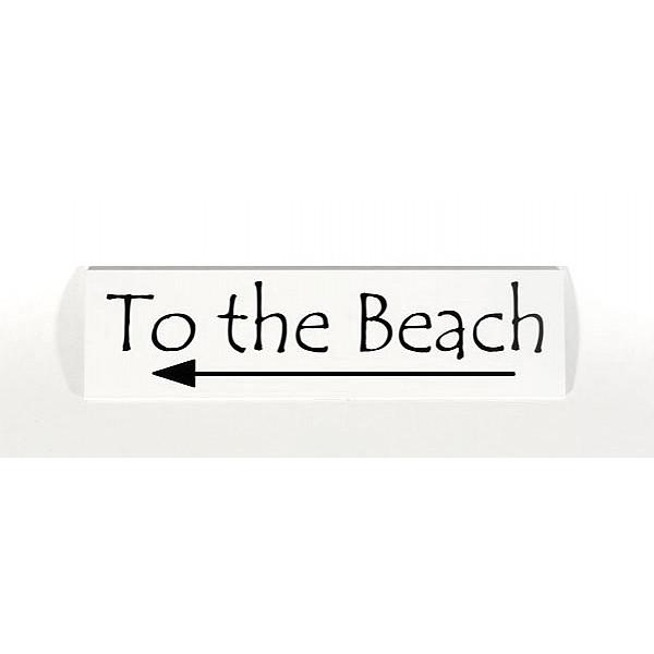 Skylt To the Beach - Vänster