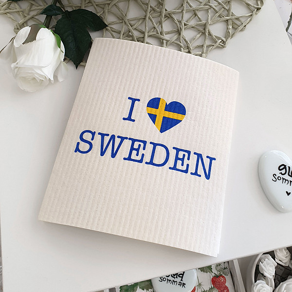 Disktrasa I love Sweden - Vit/Gul/Blå