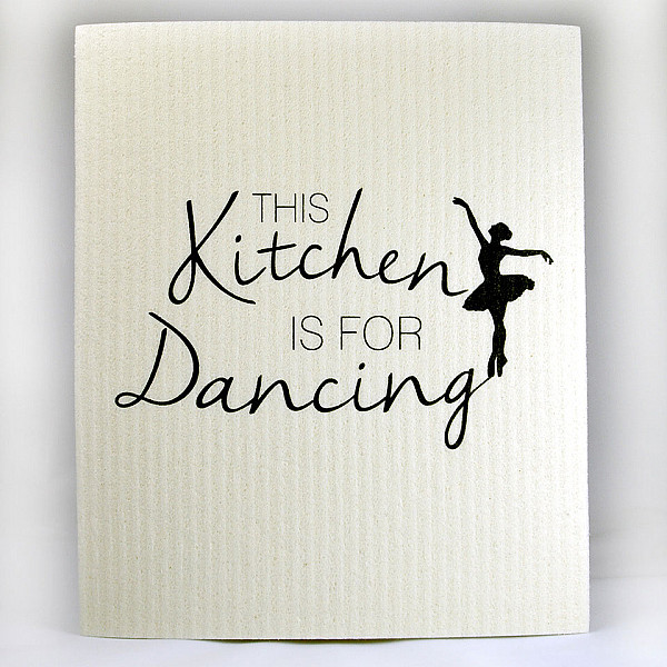 Disktrasa This kitchen is for dancing - Vit/Svart