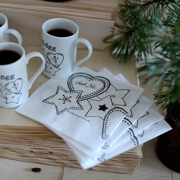 Kaffeservetter Swedish Julfika