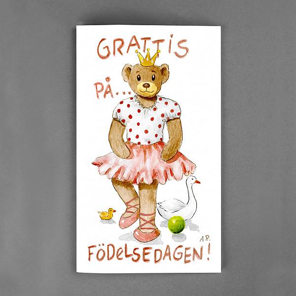 Stort Kort Grattis Nalle Prinsessa