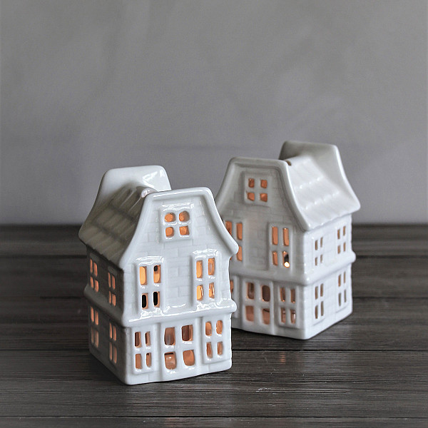 Majas Candle House Lumiere White - Small