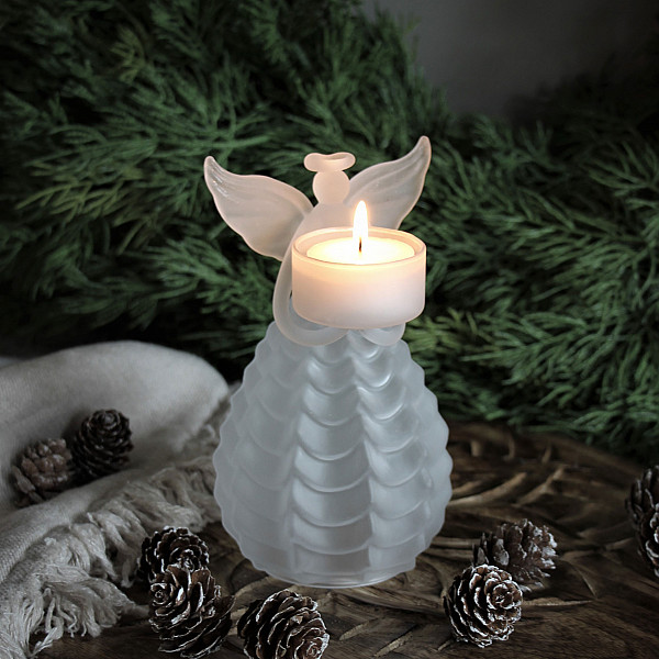 Majas Candle Holder Angel Frost - Small
