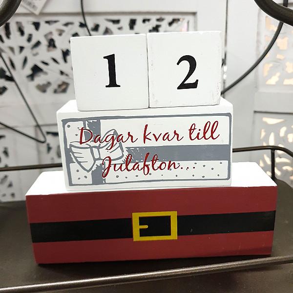 Kalender i trä Jul