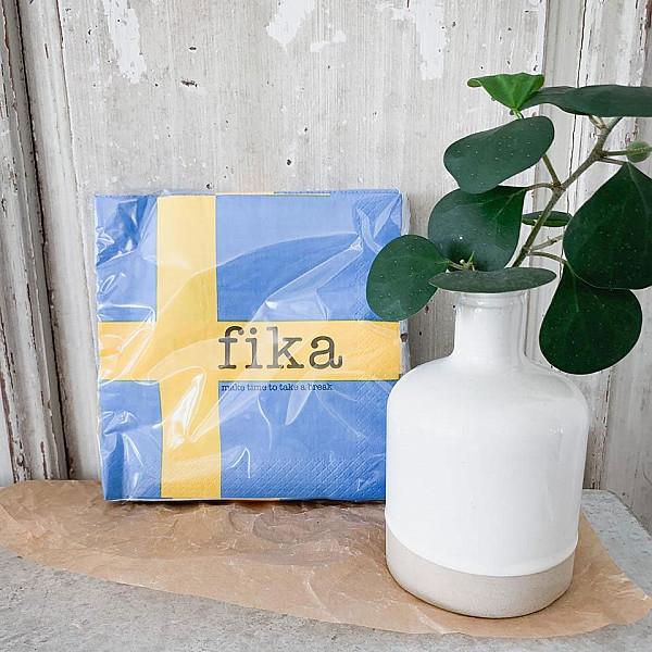 Servetter Fika - Svenska flaggan