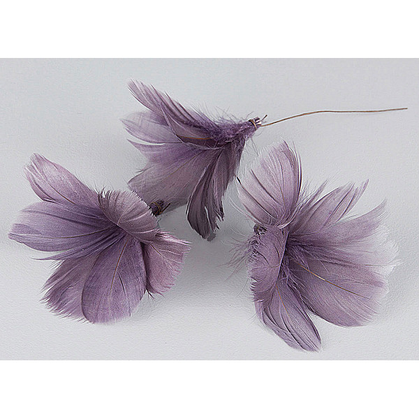 Easter Feathers / Feathers Flower Purple - 12 pcs