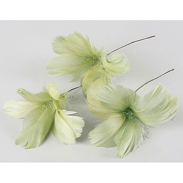 Easter Feathers / Feathers Flower Lime - 12 pcs