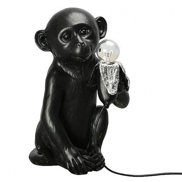 Lampa Apa Banana Monkey - Svart