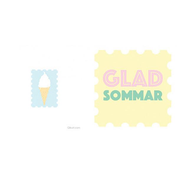 Litet kort Glad Sommar & Glass