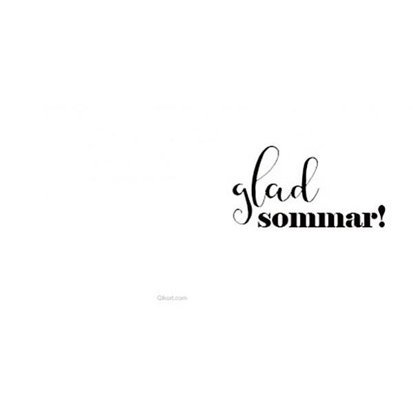 Litet kort Glad Sommar - Vit/Svart