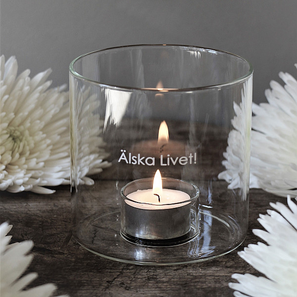 Majas Candle Holder Älska Livet