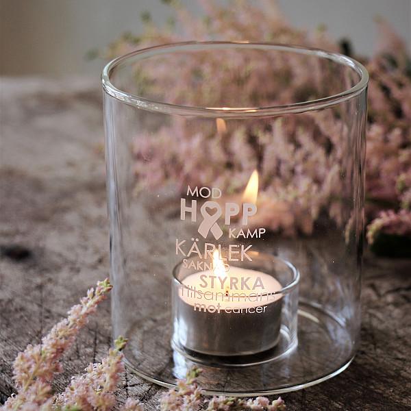 Majas Candle Holder Tillsammans mot cancer - Rosa Bandet