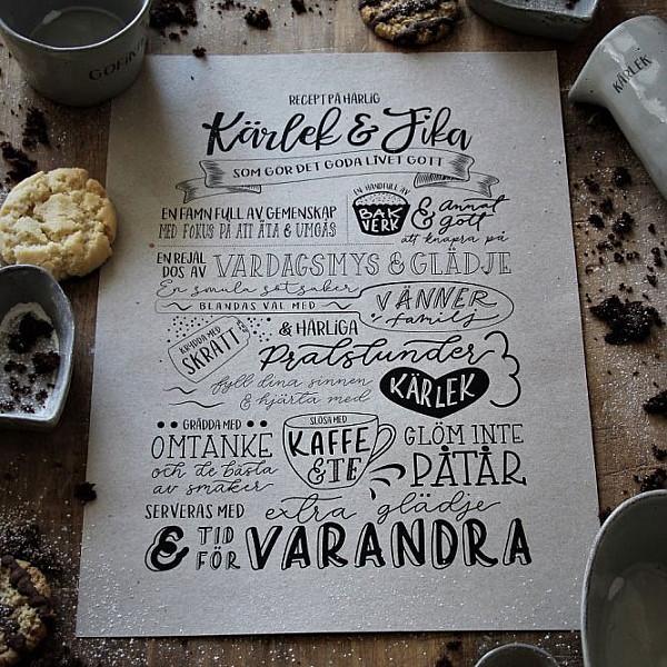 Majas Print Kärlek & Fika Recept