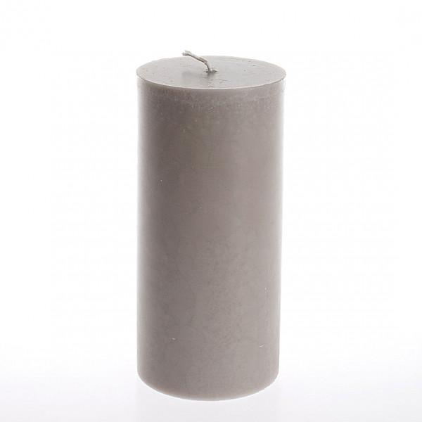 Blockljus 7 x 15 cm - Ljusgrå