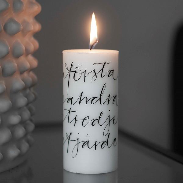 Ylva Skarp Blockljus Advent