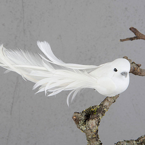 Dove with clip 14 cm - Looking sideways