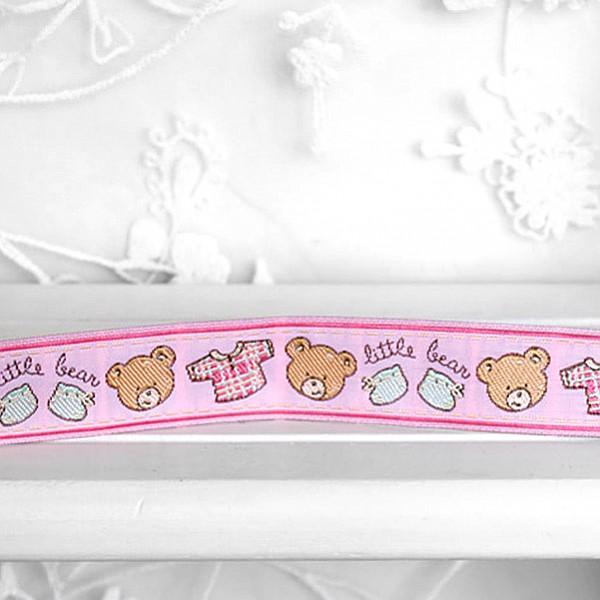Bändchen-Teddybär - Pink