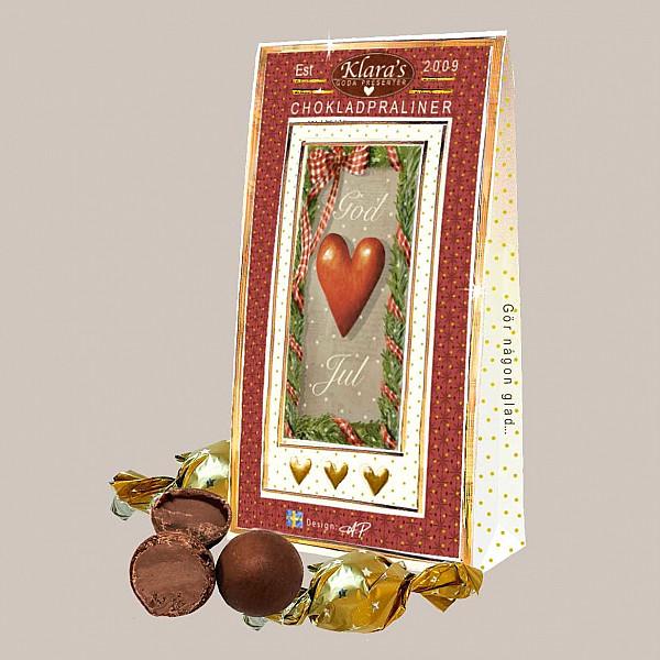 Chokladpraliner God Jul Hjärta
