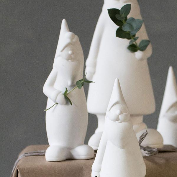 Keramiktomte Bengt Vit - Sort 1