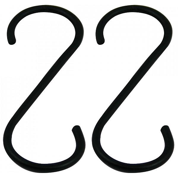 S-krok i smide 2 st Svart - 10 cm