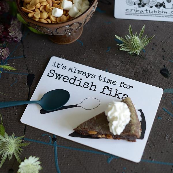 Tårtplatta Swedish fika
