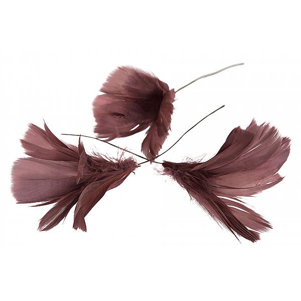Påskfjädrar/Fjädrar Blom Mörkrosa - 12 st