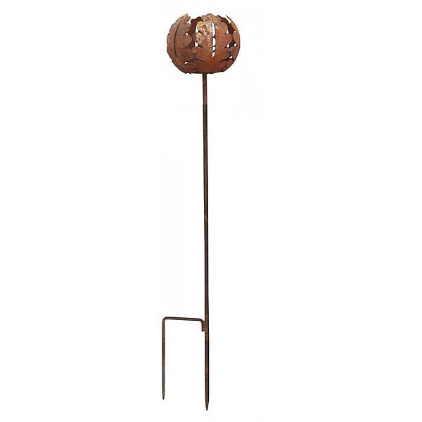 Värmeljushållare på pinne Ekblad - Rost