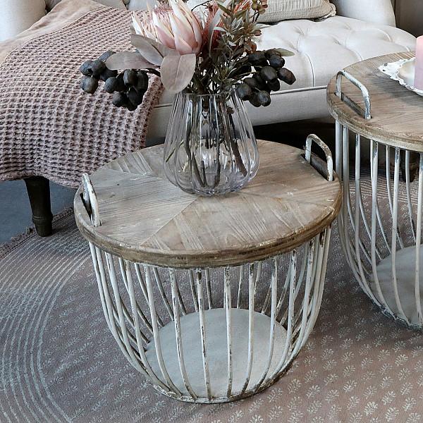 Soffbord med trälock - Liten