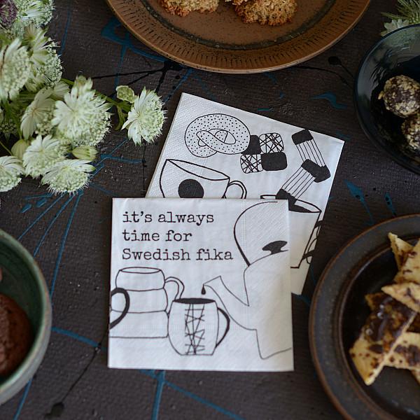 Kaffeservetter Swedish fika