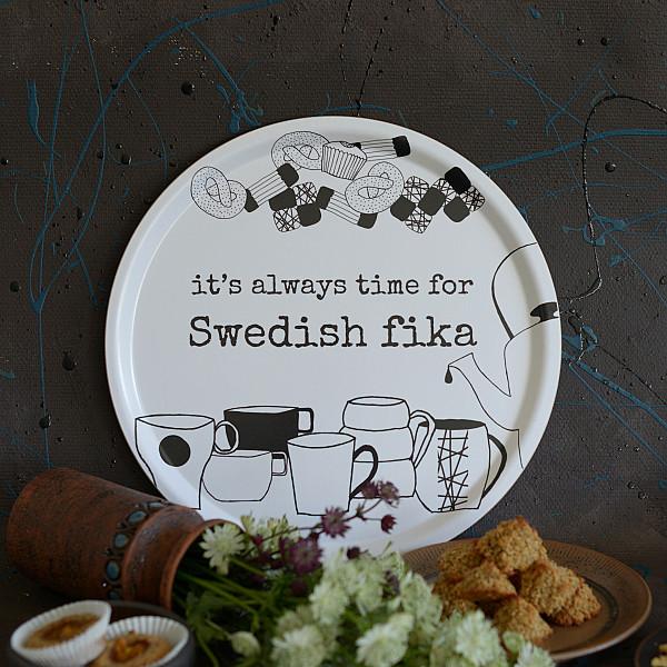 Bricka Swedish fika - 38 cm