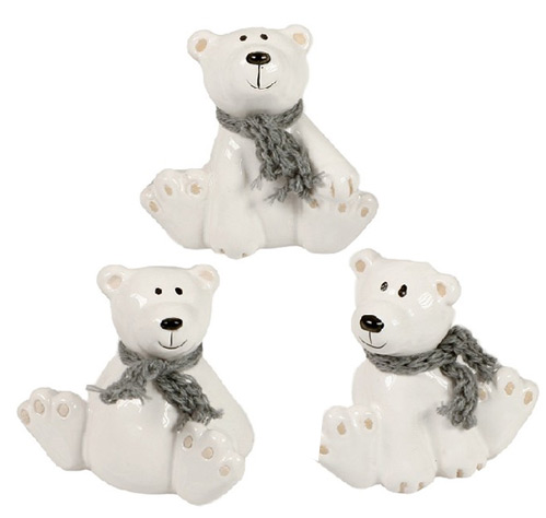 Polar Bears with scarf - 3 pcs