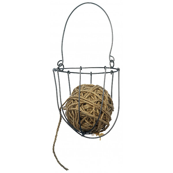 Wire Basket with jute string