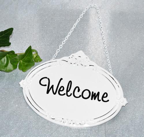 Emaljskylt Welcome