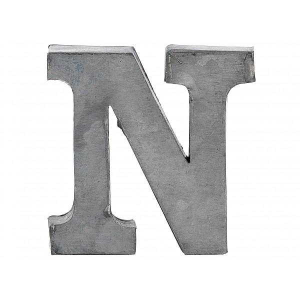 Zinc Letter N