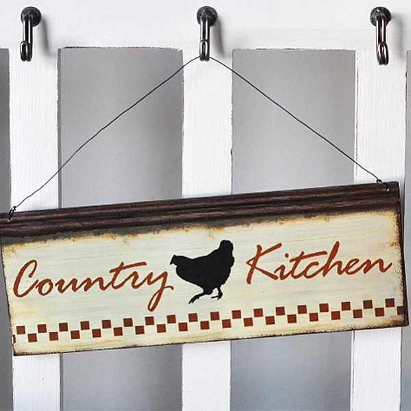 Emaljskylt Country Kitchen
